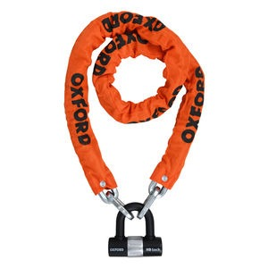 OXFORD HD Chain Lock 1.5mtr Orange