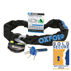 OXFORD Nemesis 16mm Chain and Padlock 2m