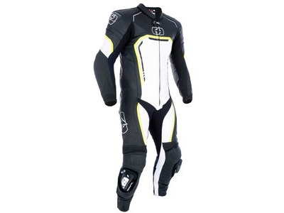 OXFORD Stradale MS Leather 1 Pc Suit Black/ White/ Fluo
