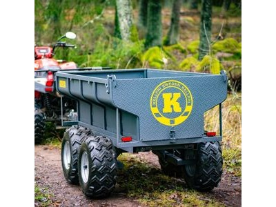 KELLFRI Tipping trailer 1420kg with electrical hydraulic tipper