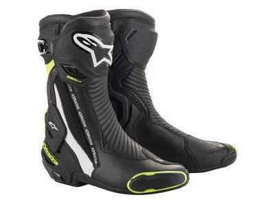 ALPINESTARS Smx Plus V2 Boots Blk/W/Yell/Fluo