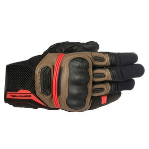 ALPINESTARS Highlands Glove Black Tobacco Brown Red