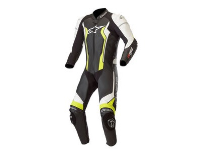 ALPINESTARS Gp Force Leather Suit 1 Pc Blk/White/Yell/Fluo