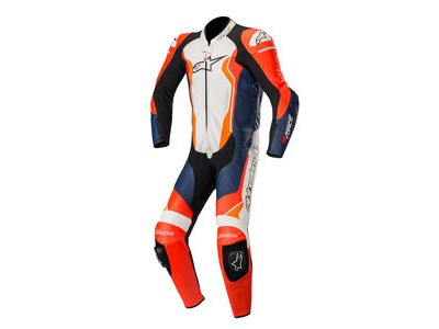 ALPINESTARS Gp Force Leather Suit 1 Pc Red F/Blk W/Orange Fl