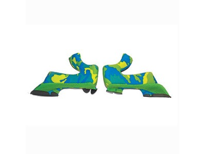 AIROH Cheek Pads Twist Yellow/Blue