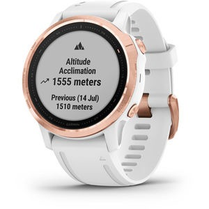 GARMIN fenix 6S Pro GPS Watch - Rose Gold with White Band Small click to zoom image