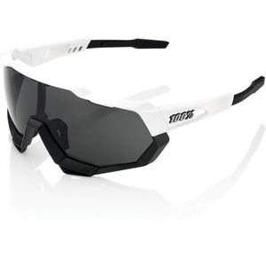 100% Speedtrap - Matte White/Black - Smoke Lens