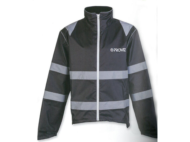 PROVIZ Nightrider Waterproof Jacket Black click to zoom image