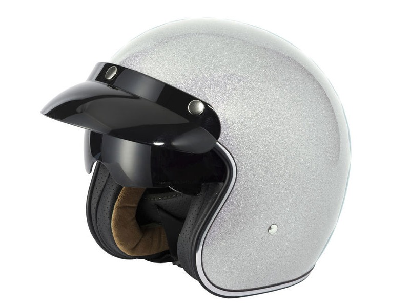 V-CAN V537 Helmet - Silver Flake click to zoom image
